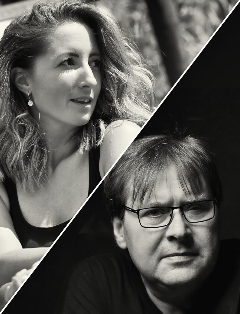 Nadine & Frank - das Team von Dunkelbunt Poesie