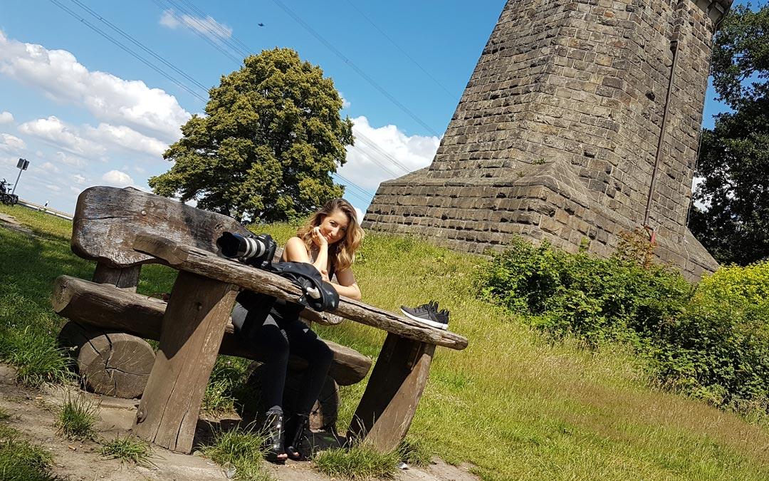 Zweites Foto-Shooting zum Projekt dunkelbuntpoesie
